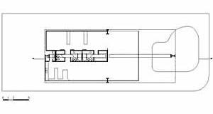 Planta da Residência Giacinto Micales, arquiteto Eurico Prado Lopes, 1975. A casa se organiza em função dos eixos definidos pelos 4 pilares<br />Desenho Maurício Azenha Dias