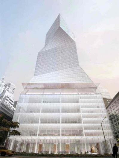 Edifício Park Avenue 425, projeto finalista do concurso, Arquiteto Rem Koolhaas (OMA) [site www.e-architect.com]