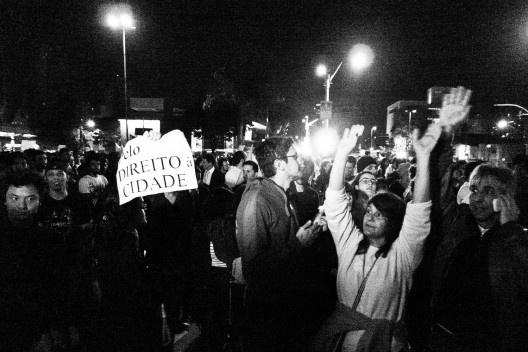 Manifestação em São Paulo<br />Foto Tiago Macambira