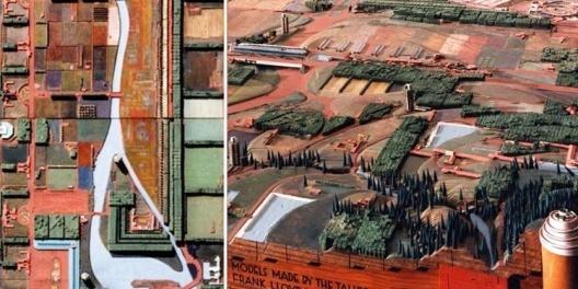 Broadacre City, detalhe da maquete [www.architecturalartsltd.com/model.php?model=3]