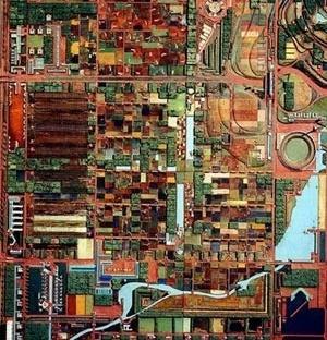 Broadacre City, maquete [www.archined.nl/archined/uploads/pics/utopia4.jpg]