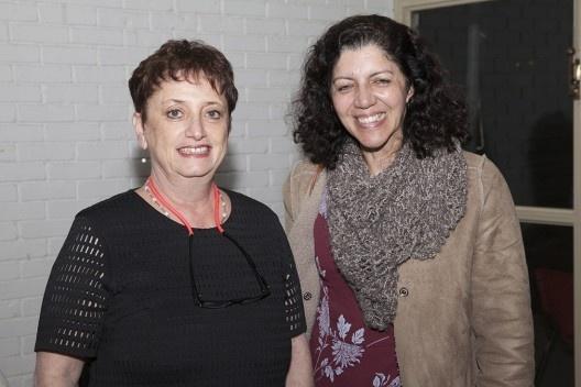 """Helena Ayoub e Eloisa Mara, festa de lançamento do livro """"Abrahão Sanovicz, arquiteto"""", IAB/SP, 22 ago. 2017<br />Foto Fabia Mercadante"""
