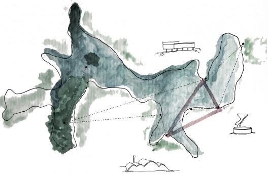 Lagoa da Pampulha, croquis masterplan<br />Imagem divulgação  [AAP]