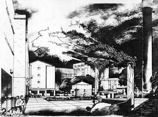 Complexo Cuareim, habitação de interesse social em fábrica de cerveja desativada, Montevidéu, anos 1990, projeto do arquiteto Nelson Inda<br />Imagem divulgação