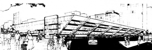 Mercado Municipal de Porto Alegre, concurso, 1967. Massimo Fiocchi e José Magalhães