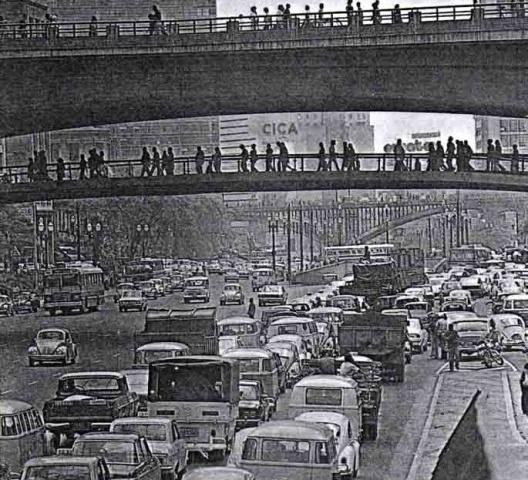 Vale do Anhangabaú em 1974<br />Foto divulgação  [<i>A Construção São Paulo</i>, n. 1376, jun. 1974]