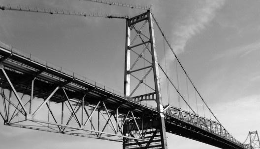 A ponte Hercílio Luz na fase atual de restauração<br />Foto divulgação
