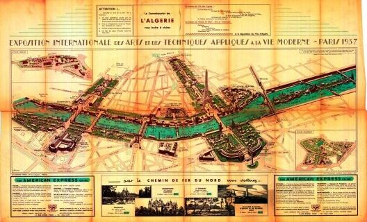 Plan. Exposition Internationale des Arts et des Techniques. París (1937) [Archives de Paris]
