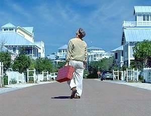 """Seaside, Flórida. Cena do filme """"Show de Truman"""""""