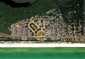 Seaside, Flórida. Foto aérea