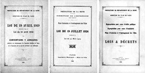 As leis urbanísticas francesas de 1919-1924 (Arquivo Noel, Coleção CEDODAL)