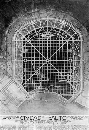 "Projetos urbanos ""Beaux Arts"" para Salto, Uruguai, 1920"