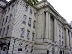 Secretaria de Estado de Segurança Pública. Vista posterior<br />Foto Benedito Tadeu de Oliveira