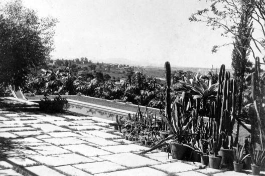 Casa da rua Santa Cruz, jardim com grupo de cactáceas, São Paulo SP. Gregori Warchavchik, 1927-28 [Acervo Gregori Warchavchik]
