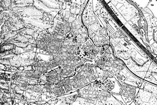 """Mapa de Viena dos princípios do século XX [""""A arquitetura da cidade"""", Aldo Rossi]"""