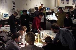 Projeto Coned; discussão no escritório de KPF, Nova York– Projeto de DBB, Ito, KPF, OMA, 2000