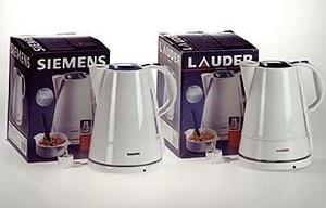 "Prêmio Plagiarius 2001. 1º lugar para Lauder, Greece pela cópia da ""water heater TW 50501"" da Siemens + Bosch, Munique, Alemanha"