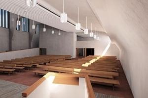 Iglesia en Altstetten, Aalvar Aalto, 1967<br />Rendering Takehiko Nagakura / MIT