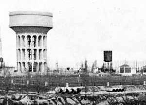 Depósito Elevado de Plaza de Castilla, estado final 1951
