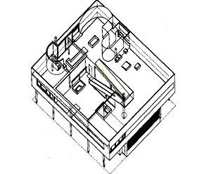 Fig. 4: Villa Savoye de Le Corbusier (1928/1929) [www.ab-a.net/bin/sav_axo1.jpg]