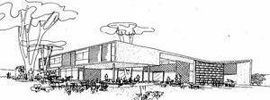 Anteprojeto de residência (1947), de Sérgio Bernardes [GRAEFF, Edgar. Arquitetura contemporânea no Brasil. Rio de Janeiro, Gertum Carneiro, 1947]