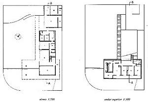 Plantas baixas da casa Jadir de Souza (1951), de Sérgio Bernardes [MINDLIN, Henrique. Op. cit., p. 66]