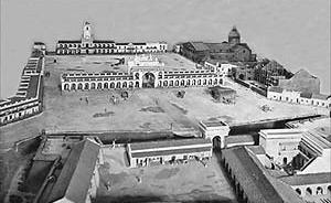 Maqueta-reconstrucción de la Plaza de Mayo hacia 1810 [Museo de Luján, Província de Buenos Aires]