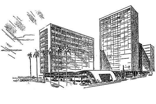 Prospecto de venda do condomínio, detalhe da imagem [Arquivo pessoal do sr. Roberto Dias Leal]