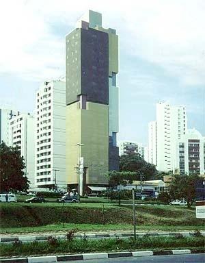 Edifício de escritórios em bairro residencial