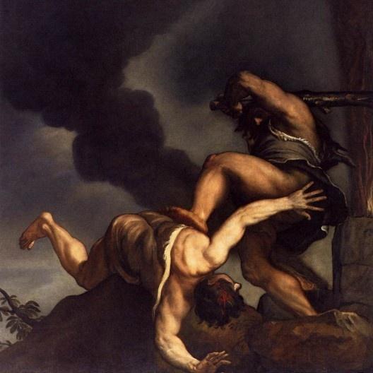 Tiziano Vecelli, <i>Caim e Abel</i>, 1542-1544<br />Imagem divulgação