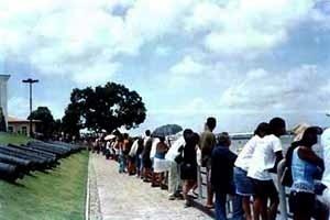Mirante do Forte do Castelo. <br />Foto da autora, 2003