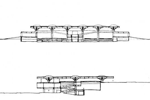 Figura 14 – Vilanova Artigas, Estação Rodoviária de Jaú, São Paulo, 1973 [ARTIGAS, Rosa et alli (org)]