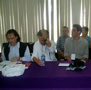 Arquitetos Leonardo Barci Castriota, representante do Brasil no SAL, e José Oswaldo Soares de Oliveira, da Universidadede Taubaté