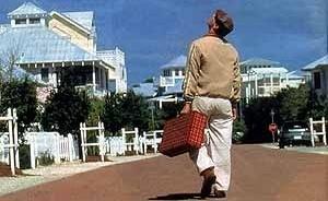 Seaside, cidade new urbanista da Flórida que em O Show de Truman é um cenário de um programa de televisão
