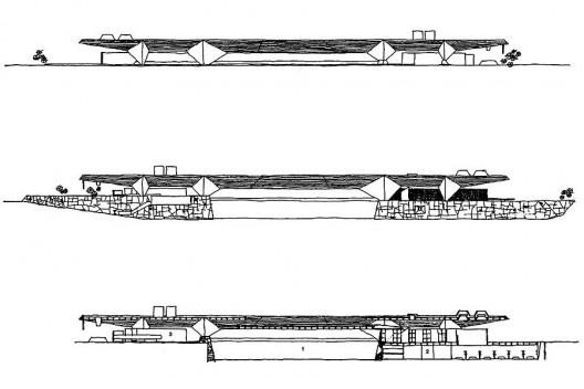 Figura 20 – Vilanova Artigas, Garagem de barcos Santa Paula Iate Clube, São Paulo, 1961 [ARTIGAS, Rosa et alli (org)]
