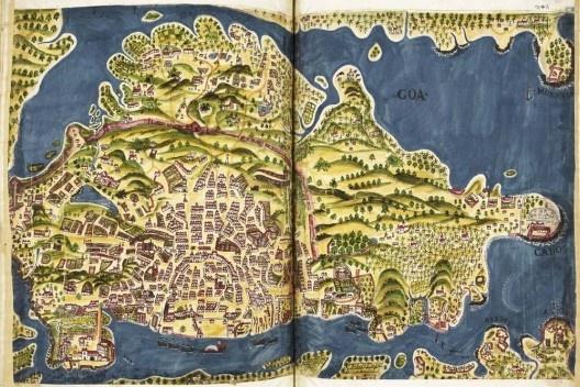 """""""Goa"""", ilustração existente no Livro do Estado da Índia Oriental[…] (c.1646) de Pedro Barreto de Resende [British Museum]"""