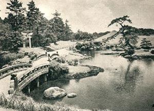 Fig. 9 – Jardim Seizen-zi em Kumamoto [Fonte: Touristic Library: 4 Japanese Gardens. Board of Tourist Industry. Japanese   Govern]