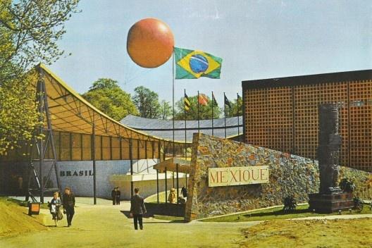 Exposição Universal e Internacional de Bruxelas, 1958. Arquiteto Sérgio Bernardes [Acervo Sergio Bernardes / NPD FAU UFRJ]