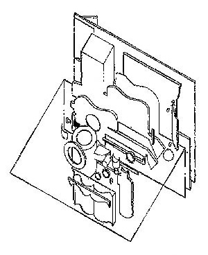 Quadro Purista de Le Corbusier. Esquema decompositivo proposto por B. Hoesli. Fonte: HOESLI, Bernard. Transparence Réele et Virtuelle