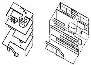 Axonométricas dos esquemas planares da Villa Stein, propostas por B. Hoesli. Fonte: HOESLI, Bernard. Transparence reele et virtuelle