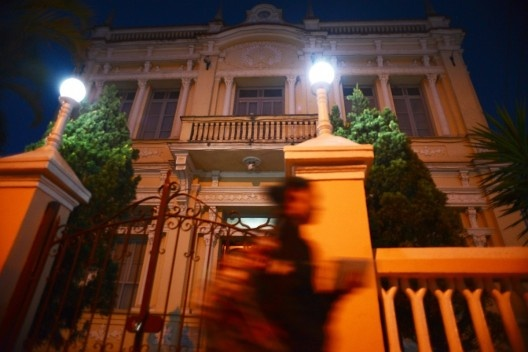 Prédio eclético da Prefeitura Municipal, no centro urbano de Matias Barbosa<br />Foto Fábio Lima