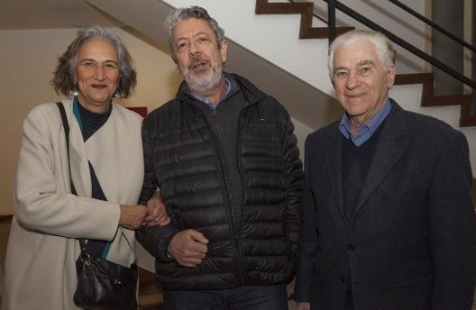 """Nadia Somekh, Renato Anelli e Luiz Fisberg, festa de lançamento do livro """"Abrahão Sanovicz, arquiteto"""", IAB/SP, 22 ago. 2017<br />Foto Fabia Mercadante"""