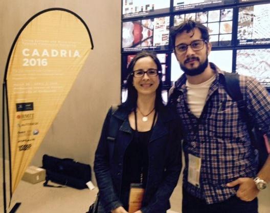 Gabriela Celani e André Araújo, doutorando da Unicamp e estagiário no Space Information Architecture Laboratory, Royal Melbourne Institute of Technology<br />Foto divulgação