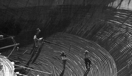 Congresso Nacional em obras, Brasília DF<br />Foto Marcel Gautherot
