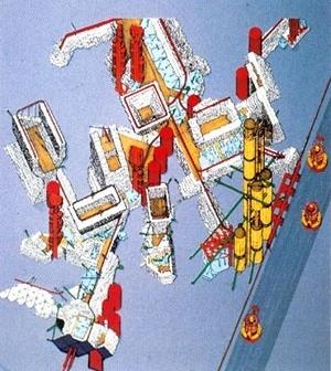 Peter Cook, Plug-in City, 1964 [Archigram Archives]