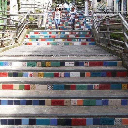 Escadaria na Rua 24 de Maio, Porto Alegre<br />Foto Eugenio Hansen/OFS