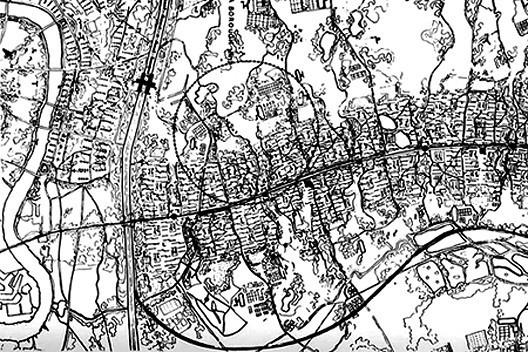 Plano de Londres, MARS, 1938. Distrito [DE BENEDETTI, Mara e PRACCHI, Attilio. Antologia dell'architettura moderna, Bologna, Zanic]