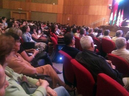 Plateia na homenagem a Paulo Mendes da Rocha, auditório Ruy Barbosa, Universidade Presbiteriana Mackenzie<br />Foto Abilio Guerra