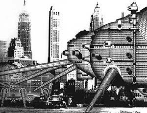 Walking City, (1964) Ron Herron, Archigram