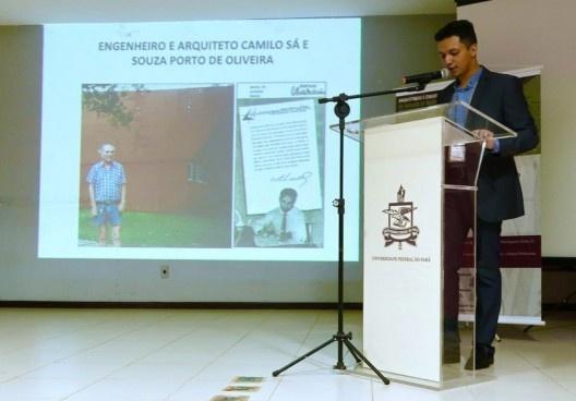 III SAMA, homenagem a Camilo Porto de Oliveira na sessão de homenagens aos arquitetos<br />Foto Celma Chaves  [LAHCA-FAU/UFPA]